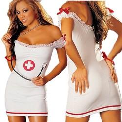 Bộ váy ngủ cosplay y tá sexy gợi cảm quyến rủ kèm quần chip 042