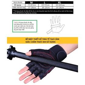 Bộ 2 găng tay tập gym có dây Đen Trắng cuốn bảo vệ cổ tay kết hợp[Lựa màu lựa size] - SMT_TK_107