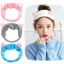 Băng đô tai mèo siêu cute thiết kế xinh xắn nhẹ nhàng dễ thương bờm tóc tai mèo turban JS-BD01