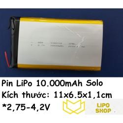 Pin LiPo 10.000mAh 3.7V (1 viên)