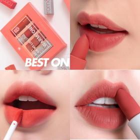[Hỗ Trợ Phí Vận Chuyển Cho Đơn Hàng Từ 69k ]Set 4 Cây Son Best On My Lip Warmtone Romand - Hàn Quốc - S4BOLW1