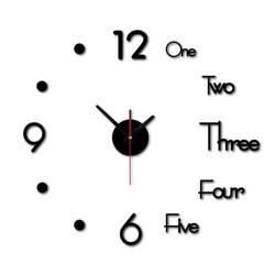 [Freeship] Đồng hồ dán tường đẹp mắt 30x30cm - đồng hồ kết hợp chữ và số