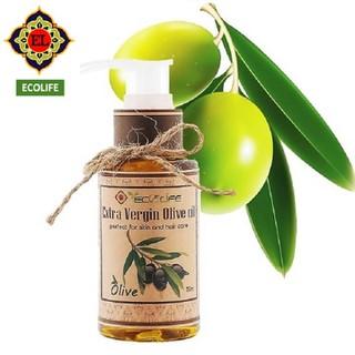 Dầu oliu Ecolife mềm da, dưỡng ẩm, mượt tóc 75ml