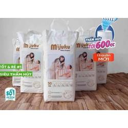 Hỗ trợ PVC - Bỉm Mijuku cao cấp 100 miếng đủ size