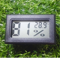 Đồng Hồ Đo Nhiệt Độ Và Độ Ẩm Hiển Thị LCD + 2 pin
