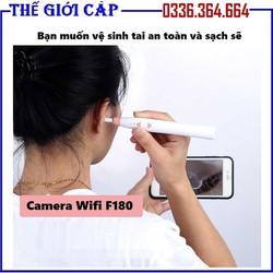 Camera nội soi tai mũi họng kết nối wifi độ phân giải HD F180 - Camera nội soi wifi cho điện thoại