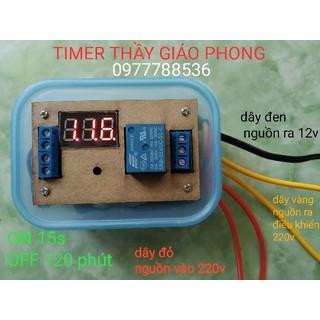 TIMER THẦY GIÁO PHONG CÓ NGUỒN KHIỂN 220V VÀ NGUỒN RA 12V - hpe-timertgp thumbnail