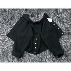 Áo khoác nữ - áo khoác kaki lửng - áo khoác nữ nút sau