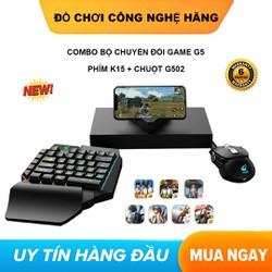 [ COMBO ] Bộ chuyển đổi FREEWOLE G5 Phím K15 Và Chuột G502 hỗ trợ chơi game PUBG Mobile cho Android, iPhone, iPad như PC không bị khóa nick