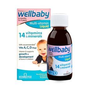 Vitamin cho bé Wellbaby Multi – Vitamin Liquid 150ml của Anh - 5021265223855