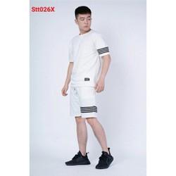 Bộ quần áo thể thao unisex kẻ sọc năng động trẻ trung