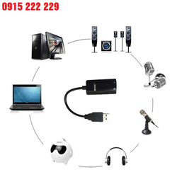 Bộ chuyển đổi giắc âm thanh USB 2.0 sang 2 đầu tai nghe 3.5mm + 1 cổng kết nối Mic sử dụng cho máy tính để bàn, máy tính xách tay, điện thoại, PS4…UGREEN CM129