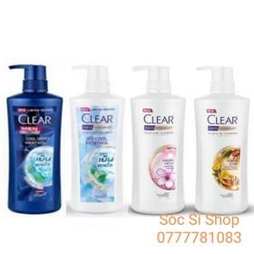 [ Hỗ trợ phí ship ] Combo 2 chai dầu gội Clear sạch gàu mát lạnh da đầu 450ml - Thái Lan - Combo 2 Clear Thái