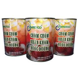 Combo 3 hộp Chôm chôm nhân khớm nước đường (3hộp x 565gr) - Chôm chôm đóng lon - Nước trái cây đóng lon, nước giải khát - Thương hiệu Antesco