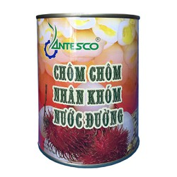 Chôm chôm nhân khớm nước đường (565gr) - Chôm chôm đóng hộp - Chôm chôm đóng lon - Nước trái cây giải khát - Thương hiệu Antesco
