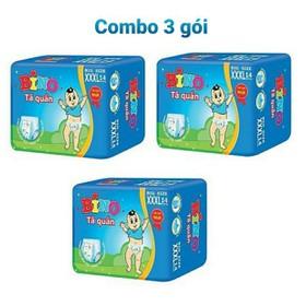 Combo 3 gói tã quần Bino XXXL 14 miếng - Combo 3 Bino