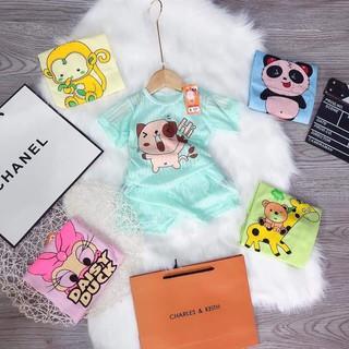 Bộ quần áo cộc tay Cotton giấy màu cho bé trai/bé gái siêu mát