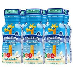 Lốc Sữa nước Pediasure Grow & Gain hương Valina 237ml x 6 chai mẫu mới 2020 - Pediasure Grow & Gain hương Valina 237ml
