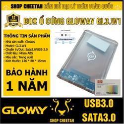 Box ổ cứng 2,5inch Gloway GL3.W1 Sata3.0 – USB3.0 – Trong suốt – CHÍNH HÃNG – Bảo hành 12 tháng – Box HDD – Box SSD
