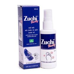 Combo 10 Lọ Xịt Khử Mùi Hôi Chân Zuchi - Hôi Giày