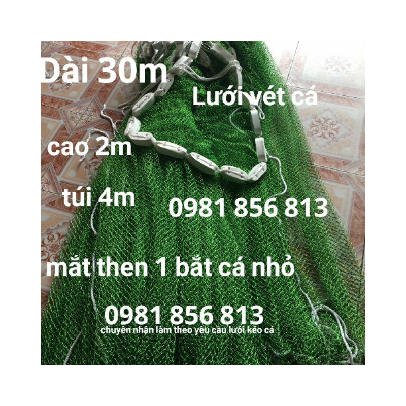 Lưới Kéo Cá Lưới Vét Cá Lưới Quét Cá Ao Hồ Bằng Dù Thái Dài 30M Cao 2M Mắt 2Cm Dây To Chì Nặng – 4327964344