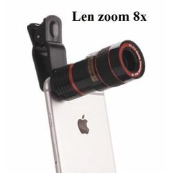 Len zoom 8X cho Điện thoại chụp hình siêu xa