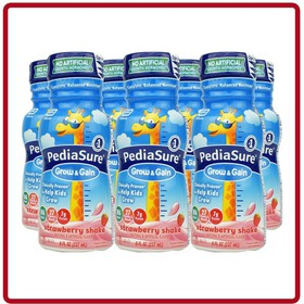 Sữa nước Pediasure Grow & Gain mẫu mới vị Dâu 2020 Của Mỹ lốc 06 chai x 237ml - Pediasure Grow & Gain strawberry