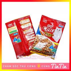 Thức Ăn Hạt Khô Ciao Cho Mèo Ngừa Tạo Búi Lông - Vị Cá Biển Gói Mini 50 gram