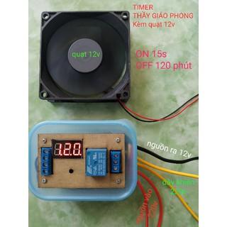 TIMER THẦY GIÁO PHONG KÈM QUẠT 12V - hpe-timertgpkemquat thumbnail