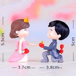 Phụ Kiện Tiểu Cảnh Giá Sỉ - Cặp Đôi Lãng Mạn - 2.2x4.5cm (Combo 5 cặp) (CD821-5cap).