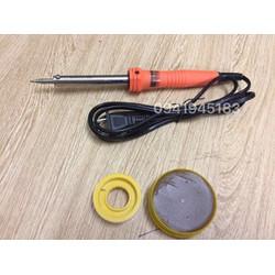 Mỏ hàn thiếc asaki 60w + cuộn thiếc và hộp nhựa thông