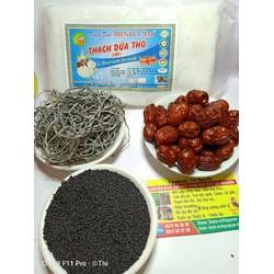 combo  Set 2kg Thạch dừa thô +rong biển+hạt é+phổ tai+hương vải