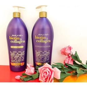 Bộ dâù gội xả Biotin Collagen chính hãng OGX Thick And Full Biotin Collagen 750ml nhập Mỹ - OGX Thick And Full Biotin Collagen 750ml