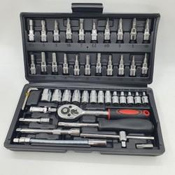 [Mẫu mới] Bộ dụng cụ sửa chữa mở bu lông ốc vít, bộ dụng cụ sửa chữa ô tô xe máy, bộ dụng cụ đa năng 46 chi tiết