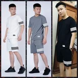 [MIỄN SHIP] [Được kiểm hàng- Chất mát- Cam kết như hình] Bộ quần áo thể thao freesize kẻ sọc năng động