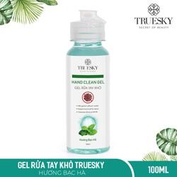 Nước rửa tay khô sát khuẩn Truesky 100ml gồm 3 hương (hương chanh sả & hương bạc hà & hương trà xanh)