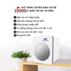 Máy tiệt trùng sấy khô bằng tia UV cho bình sữa, bộ đồ ăn, đồ chơi, điện thoại, dụng cụ làm đẹp, khẩu trang, dụng cụ trang điểm Wobex KP-800