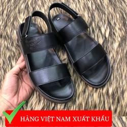 Giày sandal nam ADAM da bò màu đen đế kếp chắc chắn phù hợp đi mùa hè bán tại Hà nội