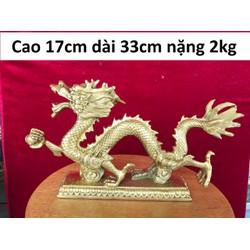 Tượng rồng bằng đồng trọng lượng 2kg MS700