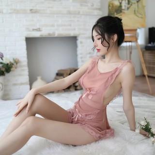 Váy ngủ Cosplay ren xuyên thấu gợi cảm (Kèm chip) - SK009 thumbnail