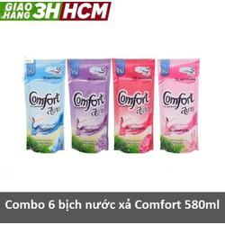 Combo 6 túi nước xả Comfort Thái - mỗi túi  580ml