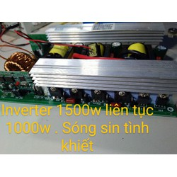 mạch biến tần 12V - 220V 1500W công suất thực
