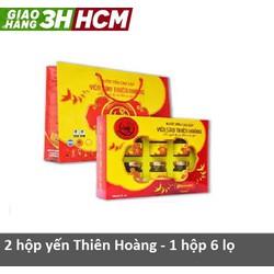 Combo 2 hộp yến sào Thiên Hoàng - 1 hộp 6 lọ