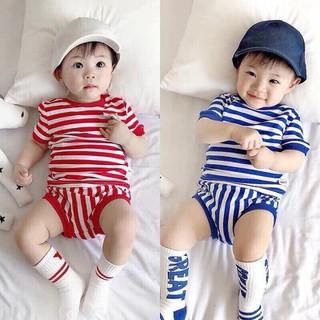 Bộ đồ MILKY MOM Sọc 4 Màu Cho Bé trai và bé gái - MK004 thumbnail