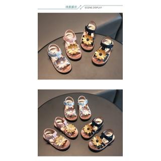 sandal bé gái size 21-30  hoa cúc da mềm