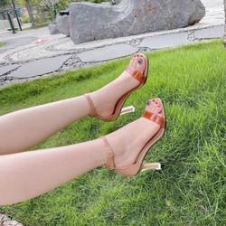 [được xem hàng][hỗ trợ phí ship]giày sandal 7cm gót mica siêu sang, bao êm