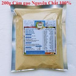 Bột Cám Gạo Sữa 200g có giấy VSATTP và ĐKKD nguyên chất thiên nhiên 100% dùng để đắp mặt đa công dụng