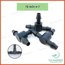 Combo 10 Đầu Tê T Chia 3 Dùng Cho Ống Tưới Nhỏ Giọt 6mm