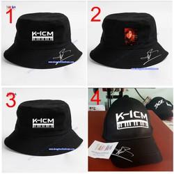 nón bucket K-icm, mũ tai bèo k icm, nón K-icm in hình 3D
