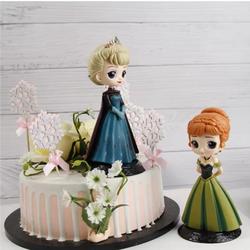 Bup Be [ HÀNG ĐẸP ] Tượng công chúa Elsa, Anna, Tiana, Sophia, Belle, Bạch Tuyết trang trí bánh kem, bánh sinh nhật